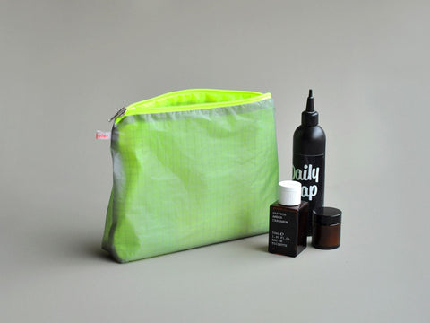 magic zipper pouch grey/neon yellow