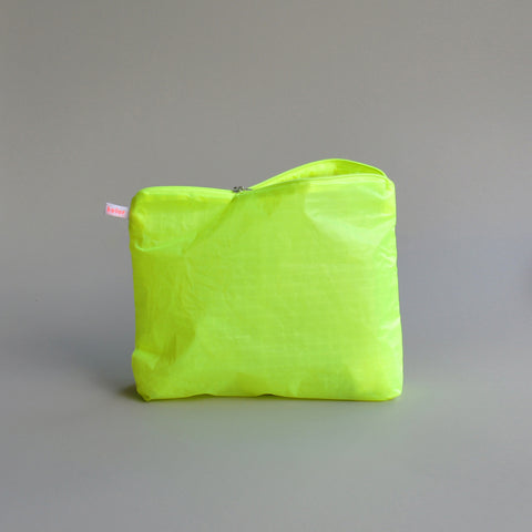 magic zipper pouch neon yellow