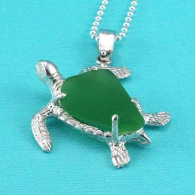 Giant green sea glass turtle pendant statement piece real sea giant green sea glass turtle pendant statement piece real sea glass mozeypictures Images