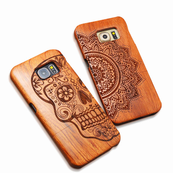 Wood Case Samsung Galaxy S6 S7 edge Plus S5 S4 S3 Note 7