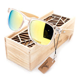 BOBO BIRD Clear Color Wood Bamboo For Women. UV 400 protection