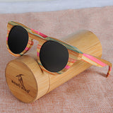 BOBO BIRD  Bamboo Round Sunglasses  Polarized