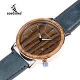 BOBO BIRD  Wooden Metal Watch for Men
