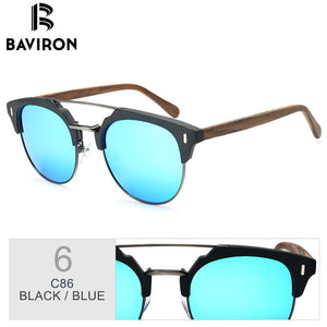 BAVIRON Wooden Sunglasses For Men