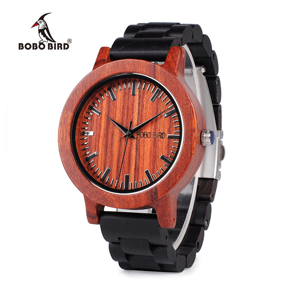 BOBO BIRD Red Sandalwood Wood watch