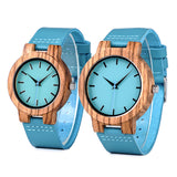 BOBO BIRD Turquoise Wood Watch