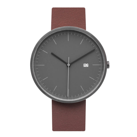 Minimalist Watch - Gray & Brown