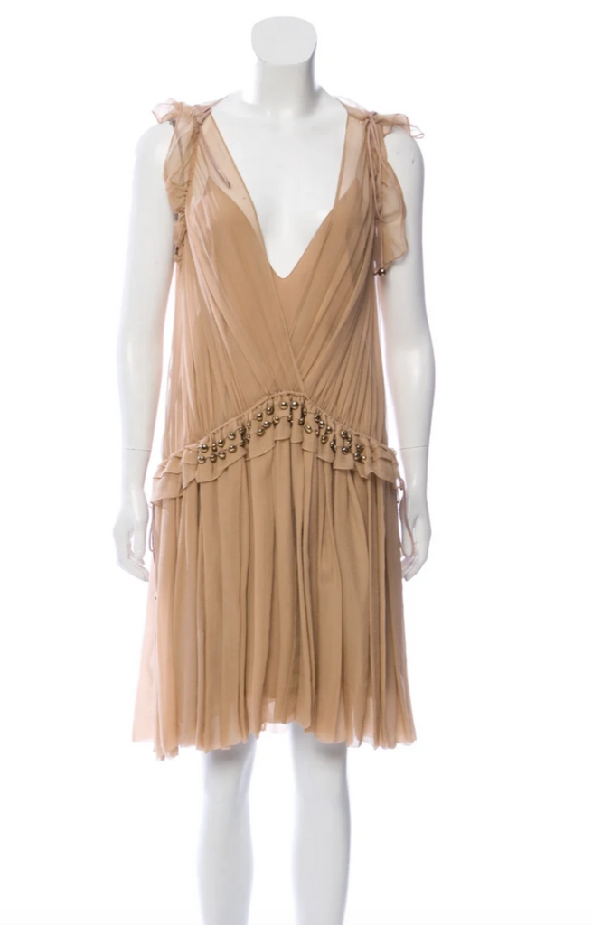 Chloé chiffon midi dress front