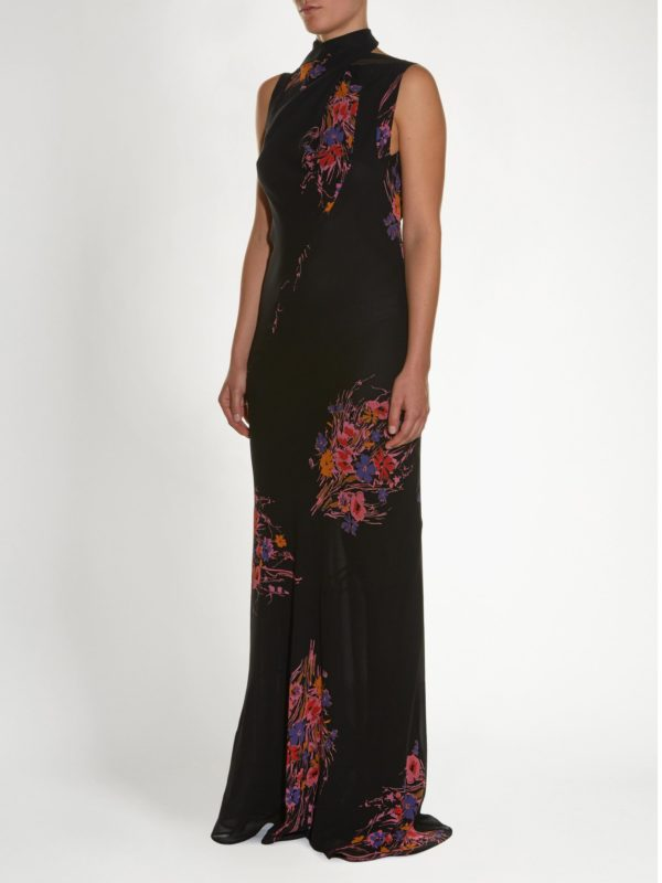 High-neck Sleeveless Floral-print Gown | Etro