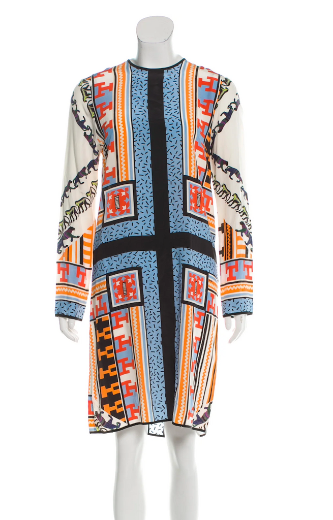 MSGM Silk Shift Dress front