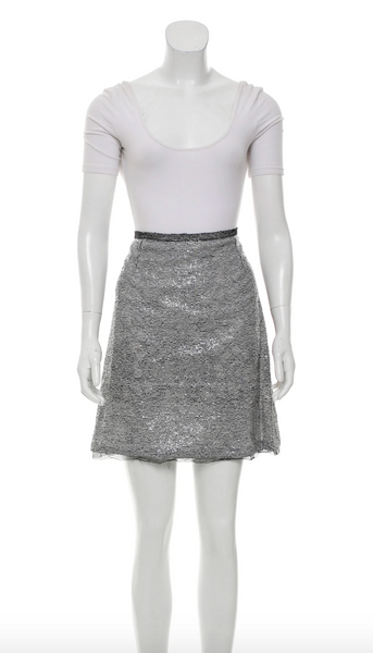 Rochas Sequined Skirt