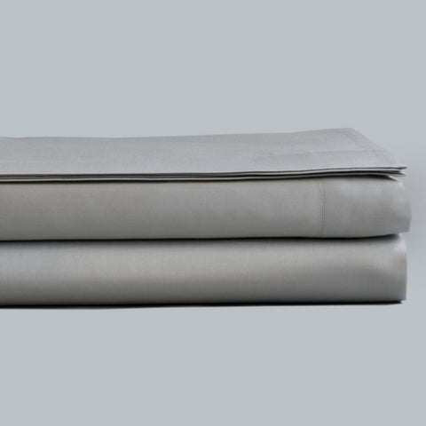 Fitted Sheet Sateen 300TC Gray