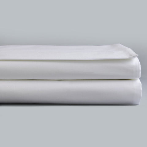 Fitted Sheet Sateen 300TC White