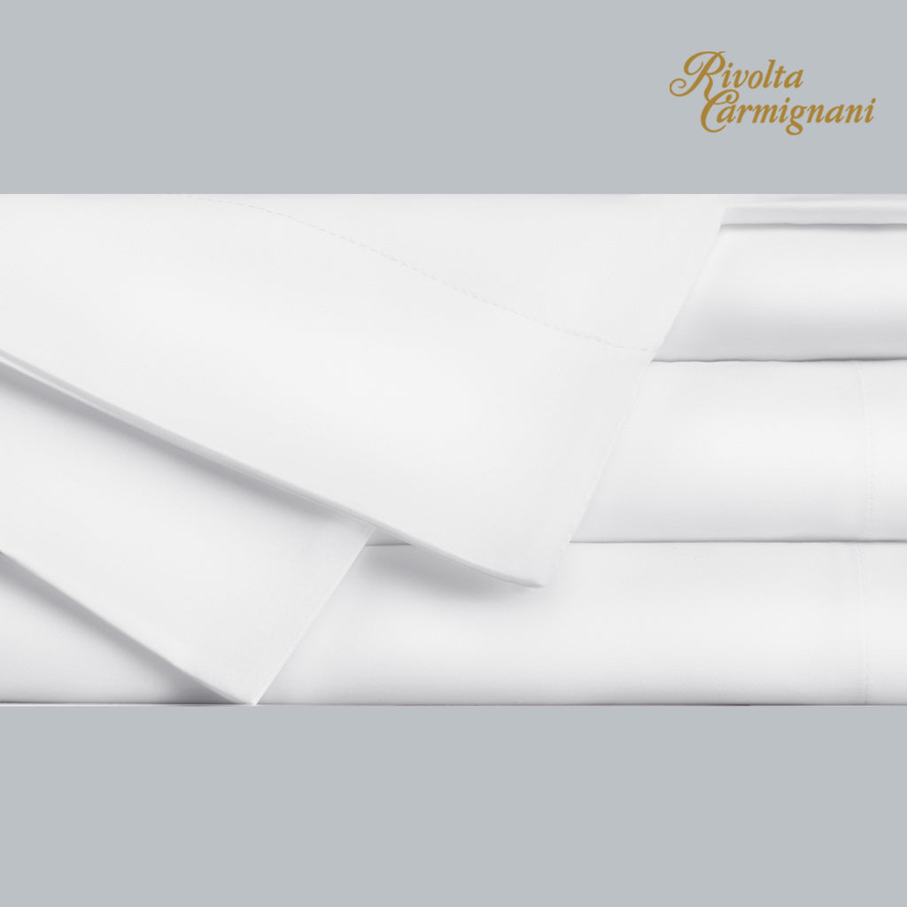 Fitted Sheet Percale 300TC White