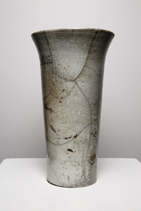 Majorelle Raku Wide mouth Vase 229