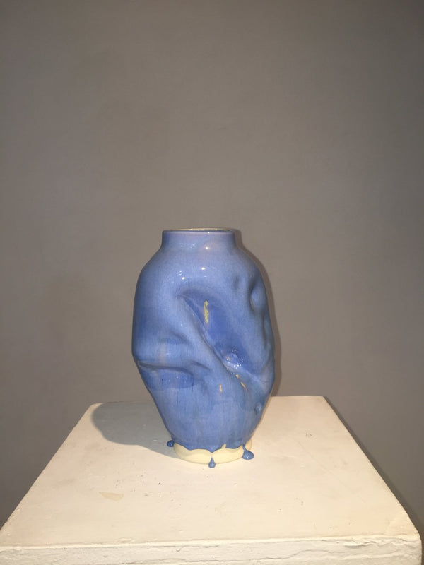 #26 Blue pot that though the glazing is fairly simple still doesn't quite do it for me 1