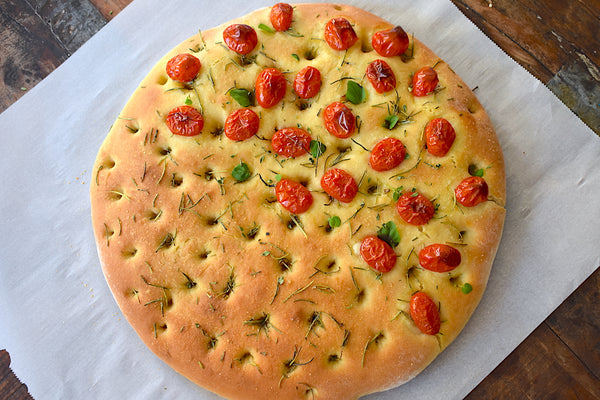 Batistini Farms Rosemary & Tomato Focaccia Bread recipe