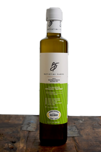 Batistini Farms Organic Notes 100% Olives NYC New York Award Winning James Beard Chefs Extra Virgin Olive Oil Italian Balsamic Vinegar Organic All Natural No Sugar Balsamic