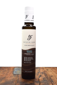 Batistini Farms Organic Truffle Black Truffle Extra Virgin Olive Oil From Italian Estates Artisan Small Batch Local Business in Winston Salem NC North Carolina Organic Olive Oil Rosemary Olive Oil Herb Olive Oil All Natural Ingredients James Beard Chef Italian Olive Oil Award Winning