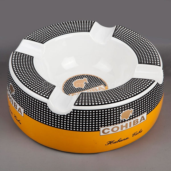 COHIBA Middle Size 4 Holder Bone Ashtray
