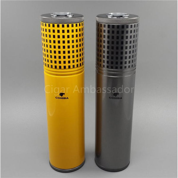 COHIBA Classic Aluminium Alloy Travel Tube-cigaraccessories