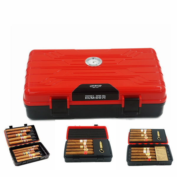 JIFENG Multifunction Double-Deck Travel Cigar Water-Proof Humidor-cigaraccessories