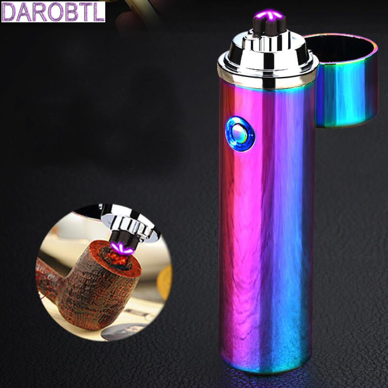 LED Windproof Smoke lighter Cross Double Arc Lighter-cigaraccessories