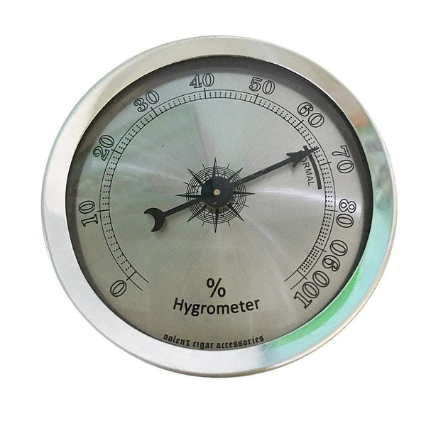 Silver Analog Hygrometer Humidor-cigaraccessories