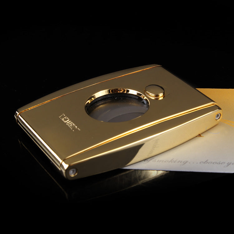 Luxury Golden Thicken Both Edge Cigars Cutter-cigaraccessories