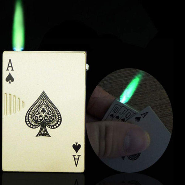 Poker Style Windproof Torch UV Cigar Lighter-cigaraccessories