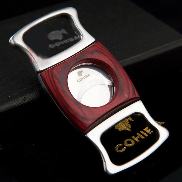COHIBA Double Blades Stainless Steel Cigar Cutter-cigaraccessories