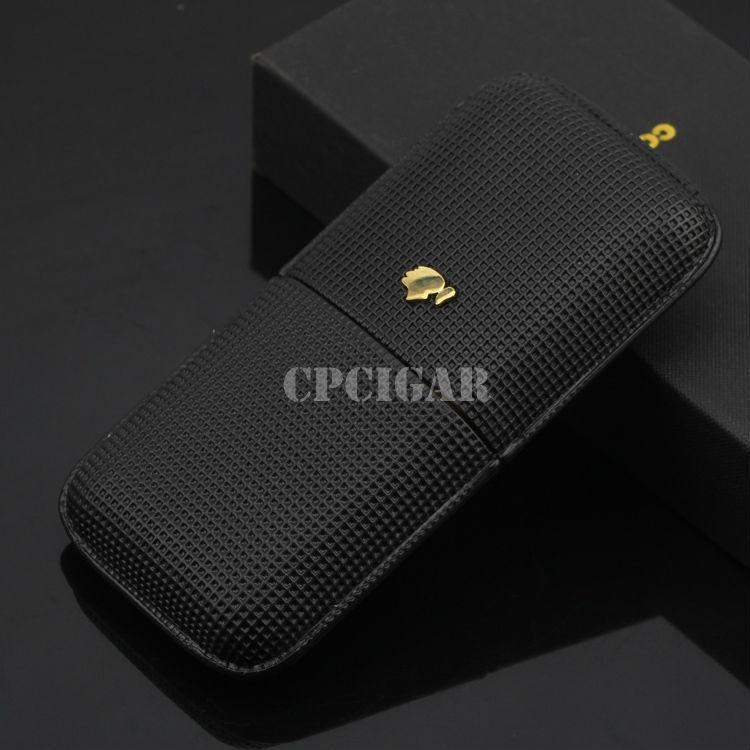 New COHIBA Cigar Accessories Black Leather-cigaraccessories