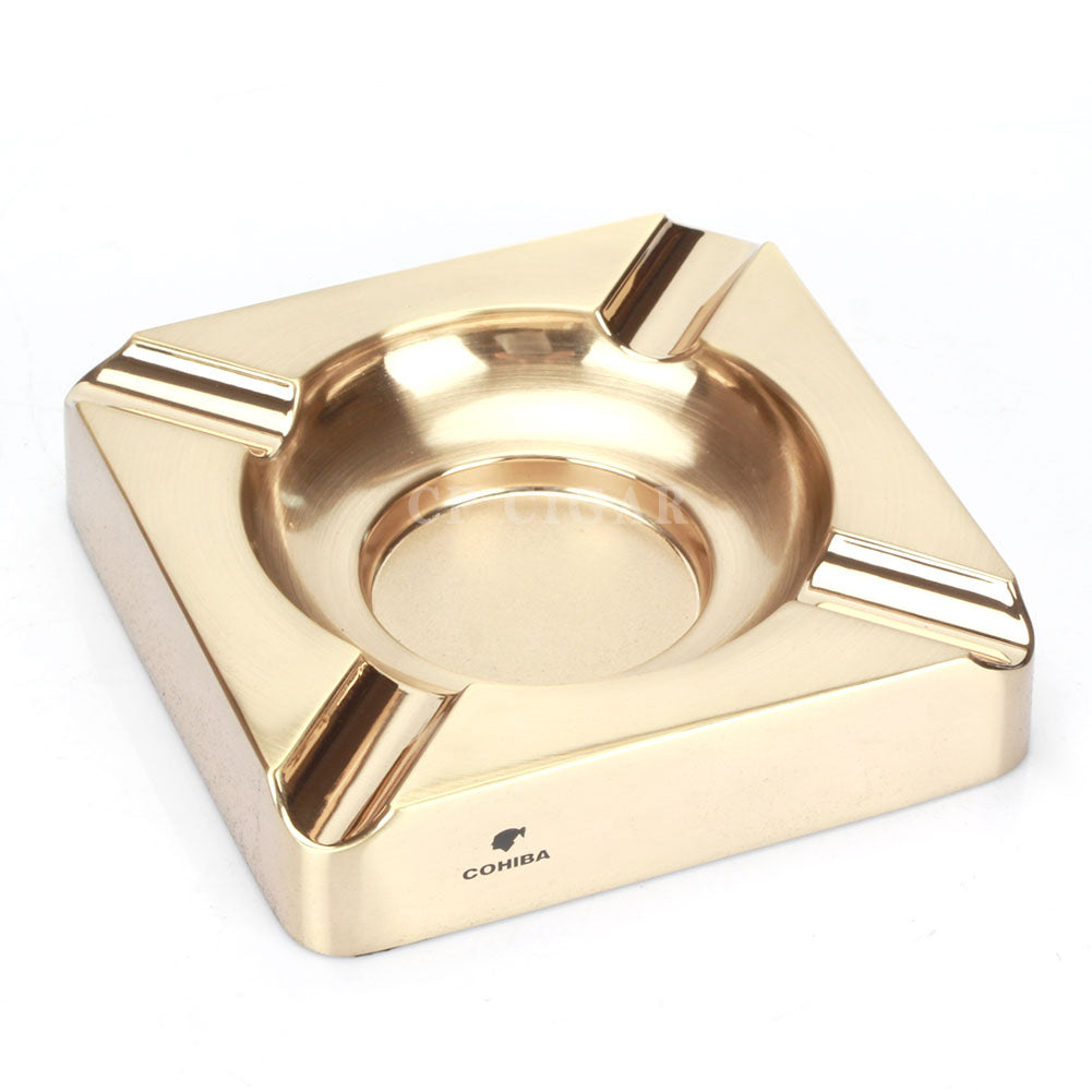 COHIBA Cigar Ashtray Metal Square 4 Cigars Holder