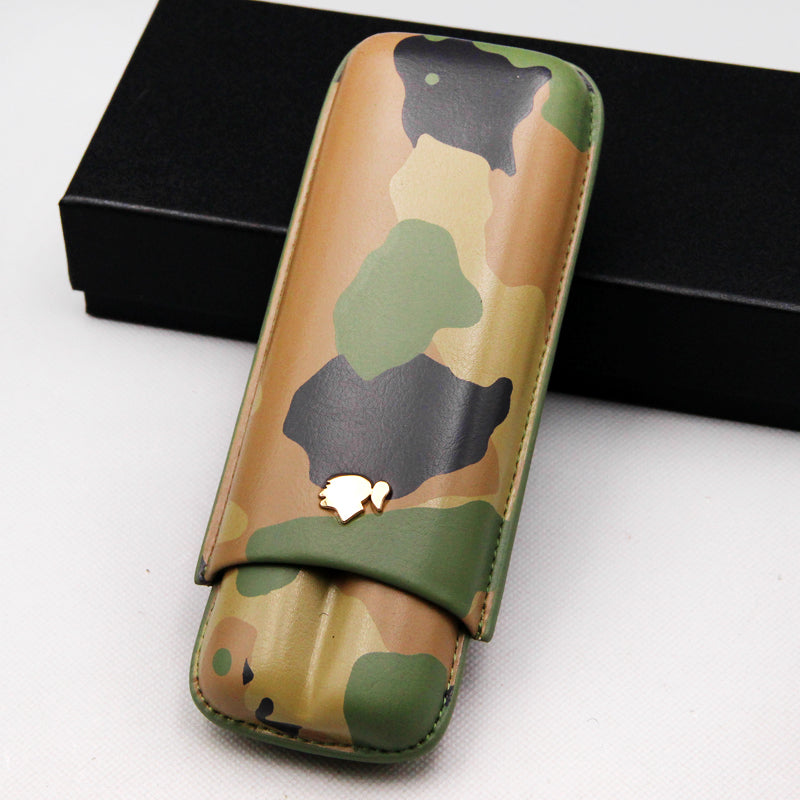 Excellent Camouflage Color Cigar Case 2 Holder