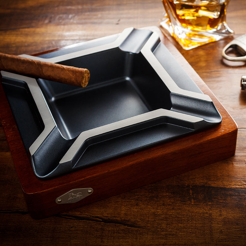 LUBINSKI Creative Design Square Luxury Cigar Ashtray