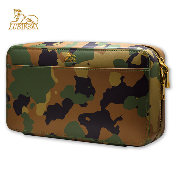 Lubinski Leather Cedar Case - Military-patterned