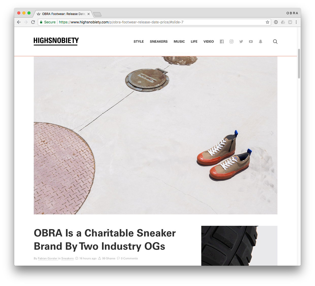 OBRA FEATURED ON HIGHSNOBIETY SEPTEMBER 2018