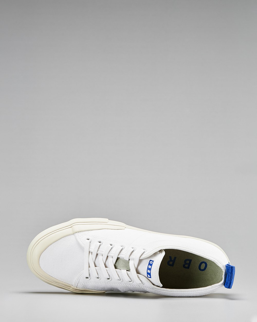 TERRA CANVAS LOW WRAP TOE<br />White/Off-white/OBRA Blue