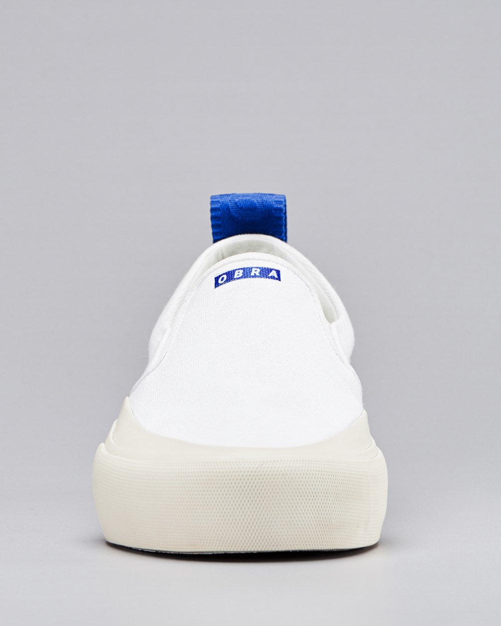 TERRA CANVAS SLIP-ON WRAP TOE <br/> White/Off-White/OBRA Blue