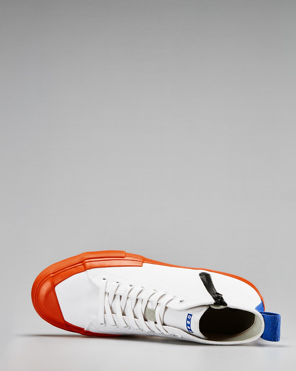 TERRA CANVAS HIGH FULL CAP <br />White/Utility Orange/OBRA Blue