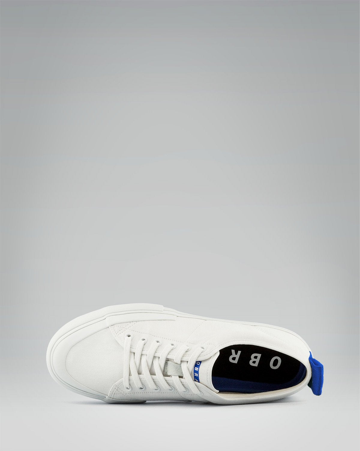 240 CANVAS LOW WRAP TOE<br />White/White/OBRA Blue