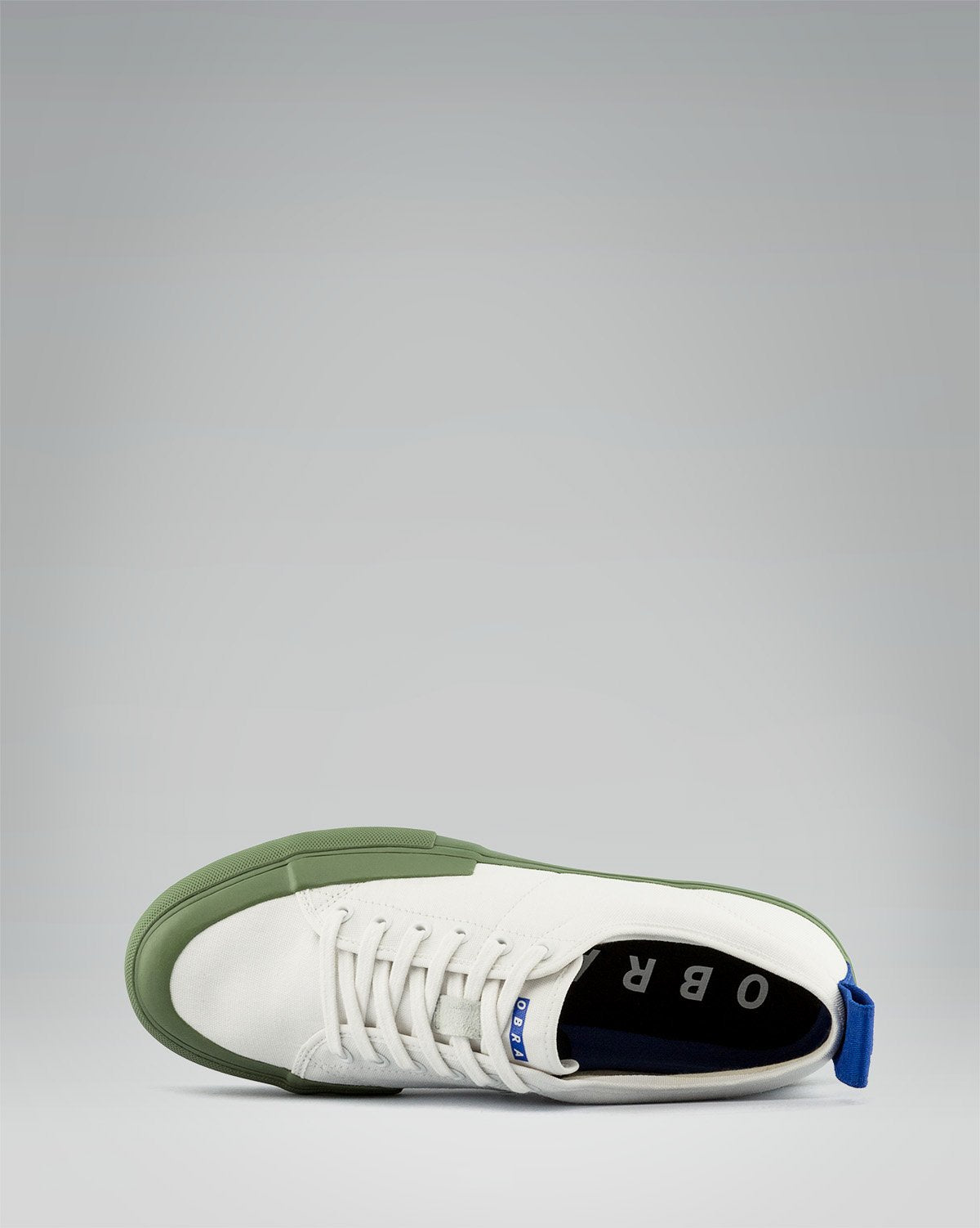 240 CANVAS LOW WRAP TOE<br />White/Sage/OBRA Blue