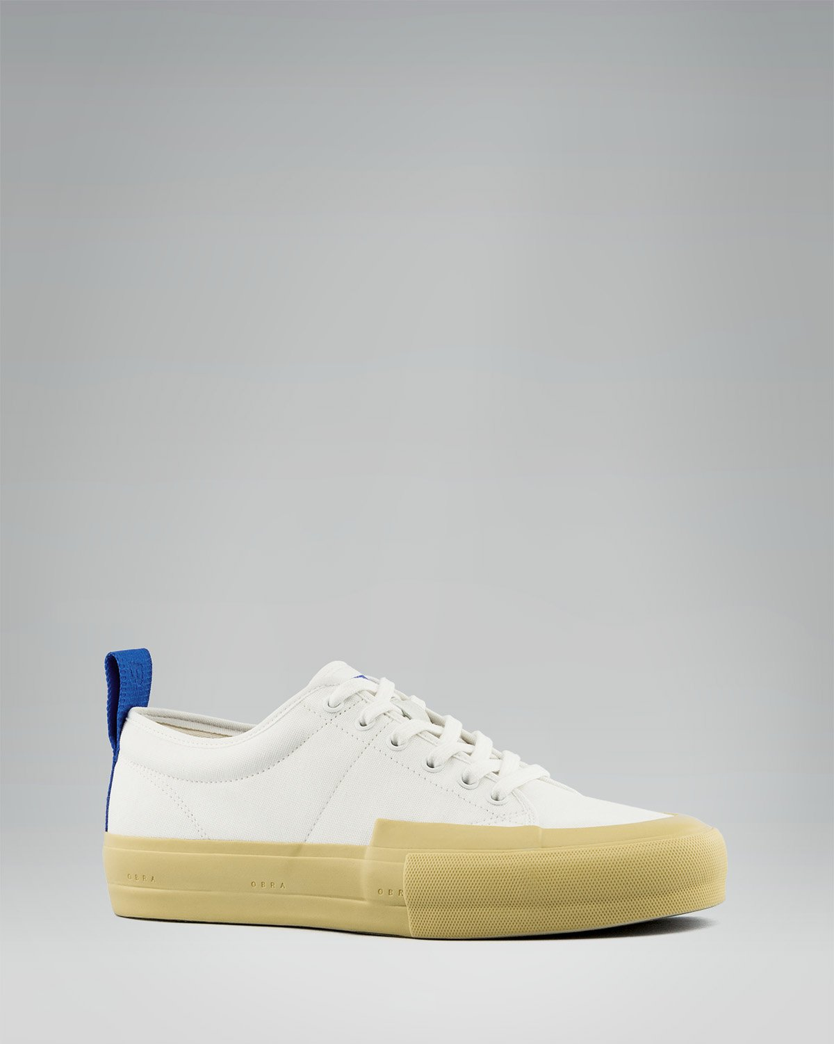 240 CANVAS LOW WRAP TOE<br />White/Sand/OBRA Blue