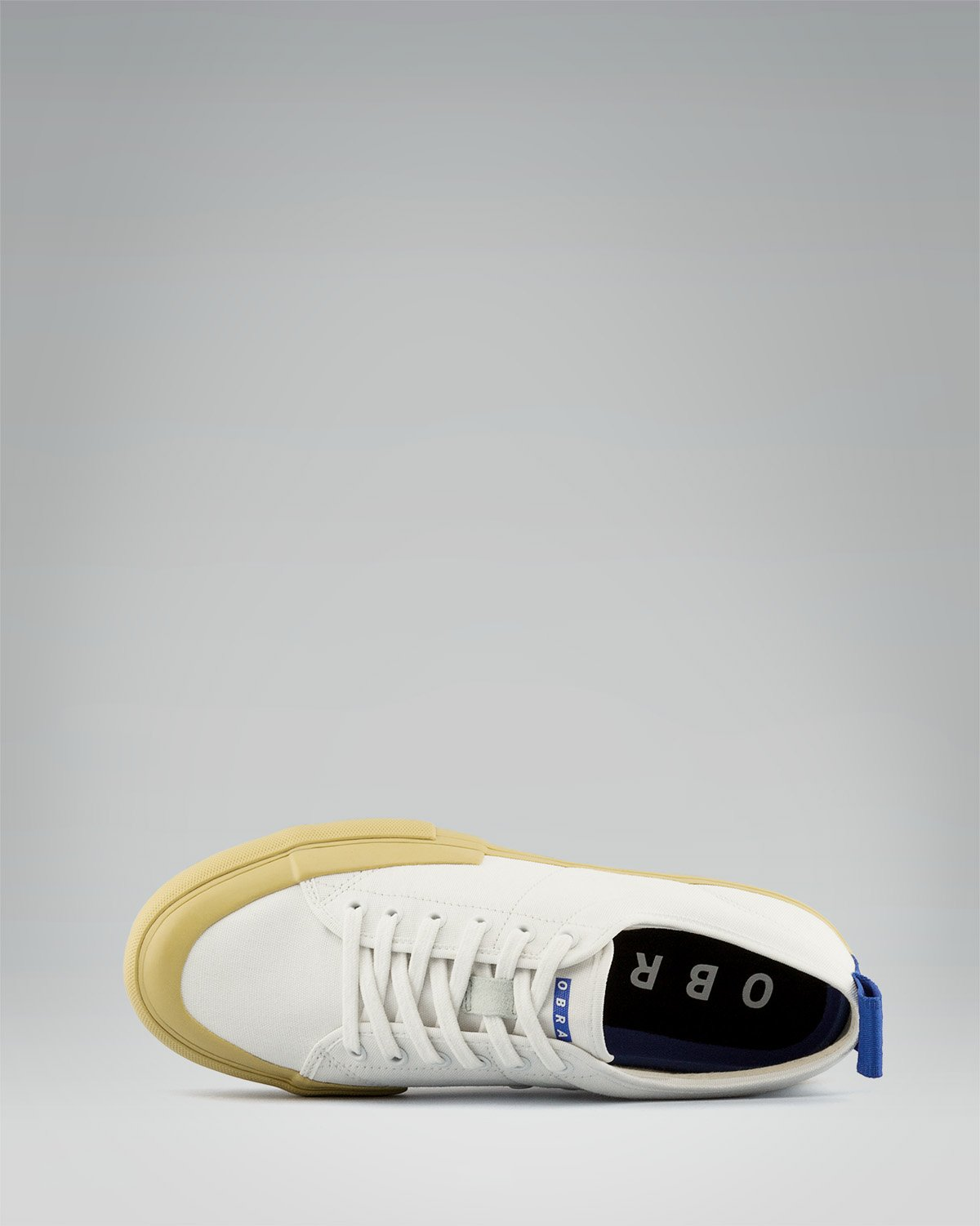 240 CANVAS LOW WRAP TOE <br/> White/Sand/OBRA Blue