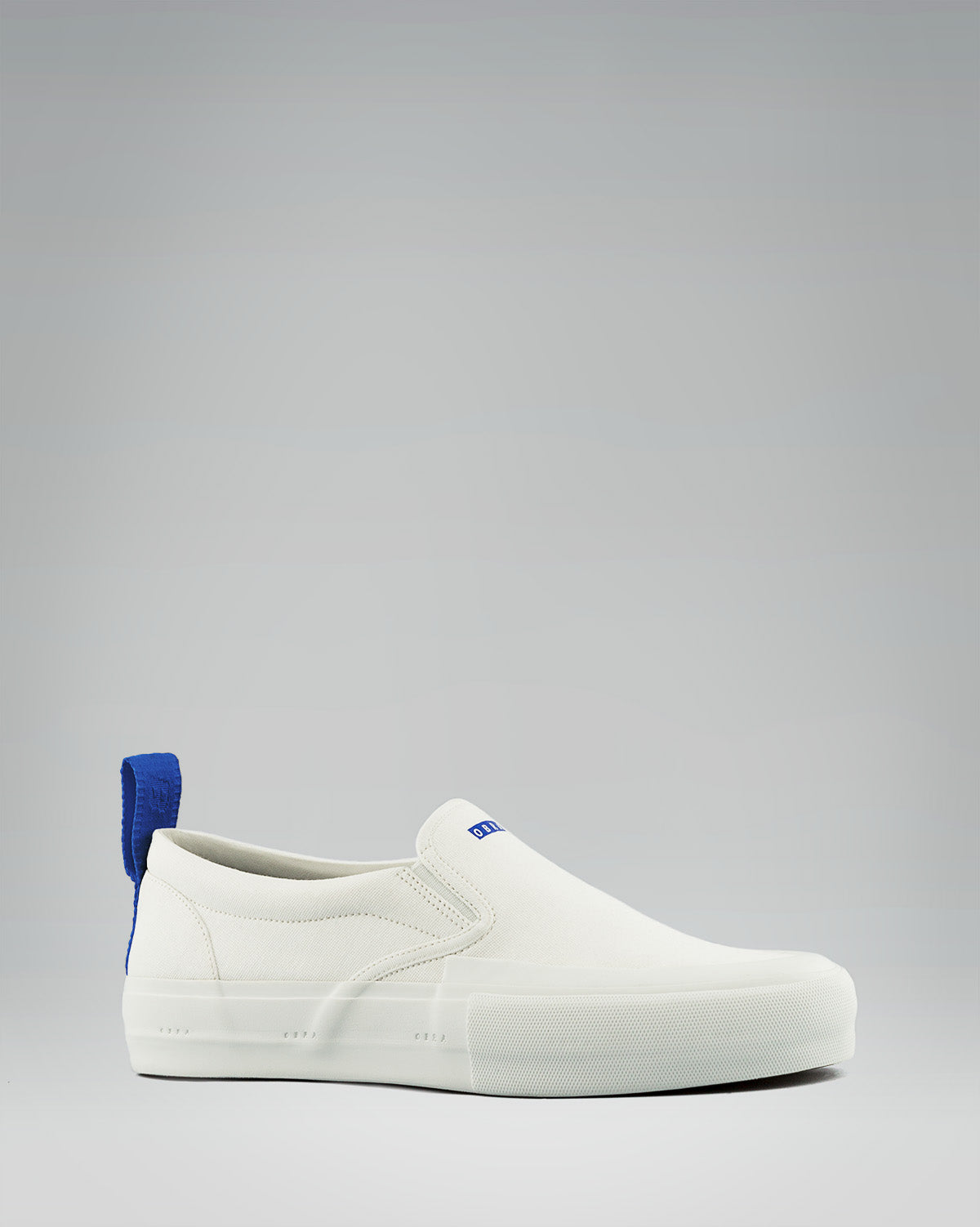 240 CANVAS SLIP-ON WRAP TOE <br/> White/White/OBRA Blue