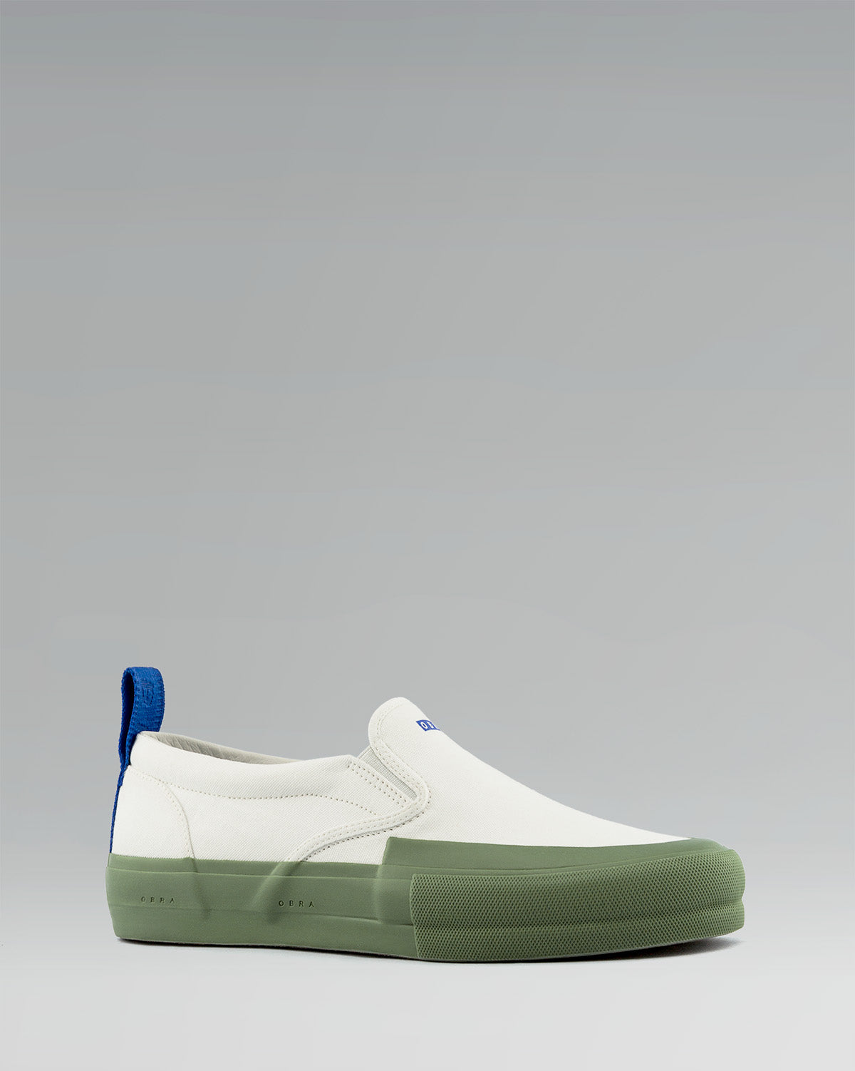 240 CANVAS SLIP-ON WRAP TOE<br />White/Sage/OBRA Blue