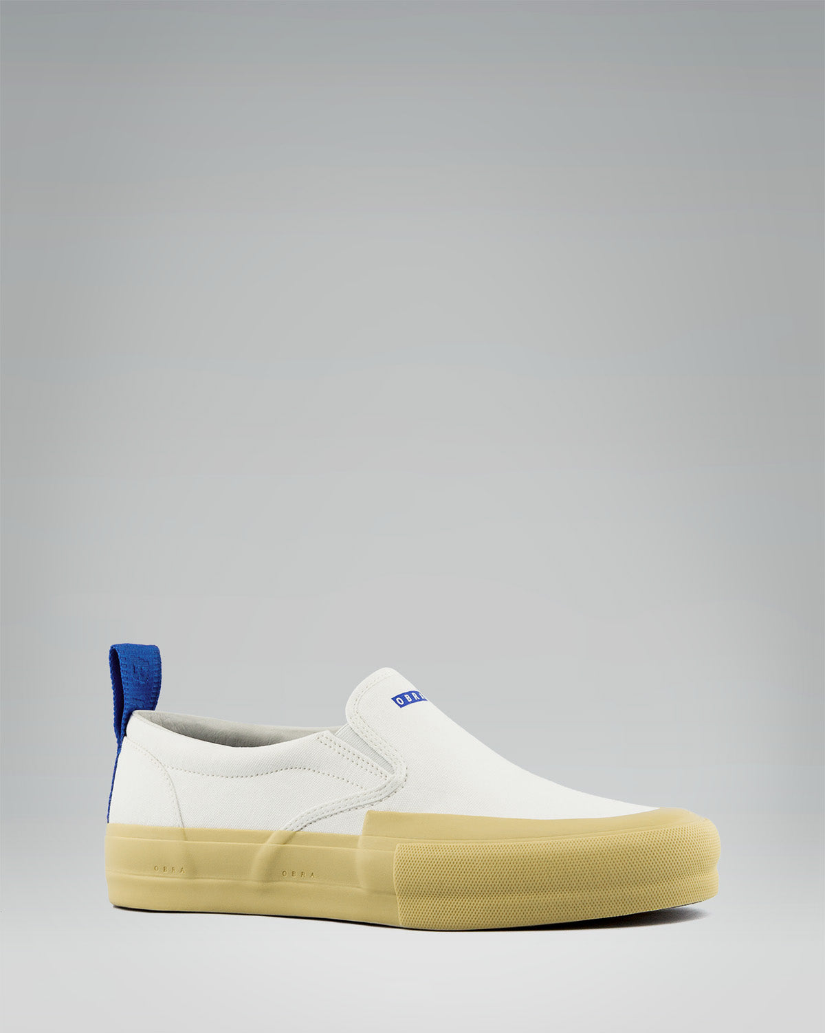 240 CANVAS SLIP-ON WRAP TOE<br />White/Sand/OBRA Blue