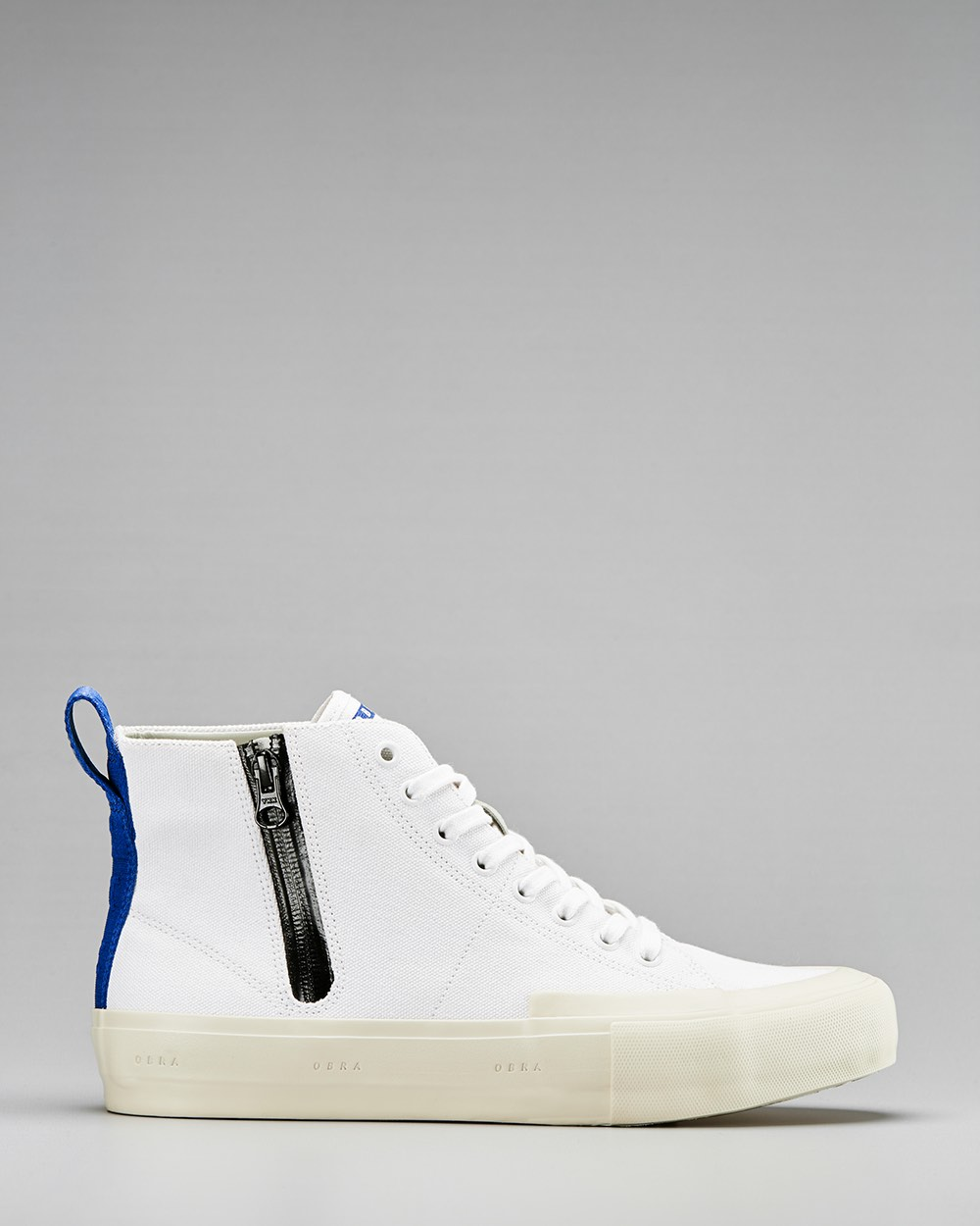 TERRA CANVAS HIGH WRAP TOE <br/> White/Off-White/OBRA Blue