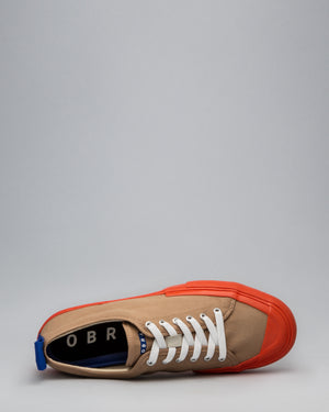 CANVAS LOW FULL CAP <br/>Tan/Utility Orange/OBRA Blue