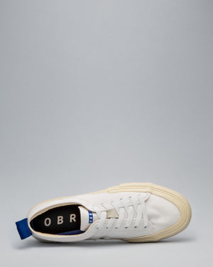 CANVAS LOW WRAP TOE <br/>White/Off-White/OBRA Blue